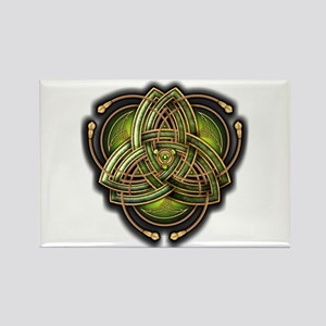 Green Celtic Triquetra Rectangle Magnet