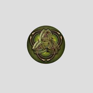 Green Celtic Triquetra Mini Button