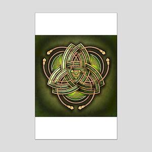 Green Celtic Triquetra Mini Poster Print
