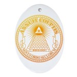 Eye of Providence 3 Ornament (Oval)