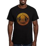 Eye of Providence 3 Men's Fitted T-Shirt (dark)