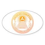 Eye of Providence 3 Sticker (Oval 10 pk)