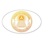Eye of Providence 3 Sticker (Oval 50 pk)