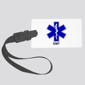 Blue Star of Life - EMT Large Luggage Tag