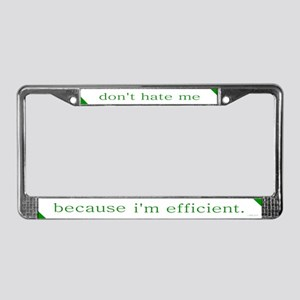 Efficient Hybrid License Plate Frame