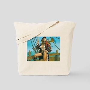 pin-up pirate Tote Bag