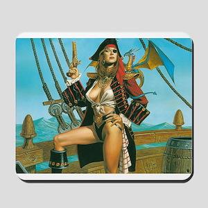 pin-up pirate Mousepad