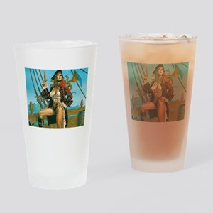 pin-up pirate Drinking Glass