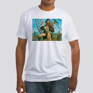 pin-up pirate Fitted T-Shirt