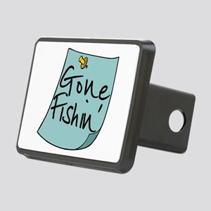 Gone Fishin' Note Rectangular Hitch Cover