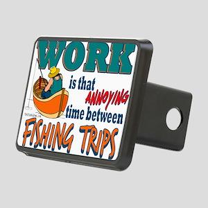 Work vs Fishing Trips Rectangular Hitch Cover