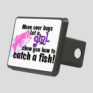Move Over Boys - Fish Rectangular Hitch Cover