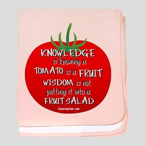 Tomato Smarts baby blanket
