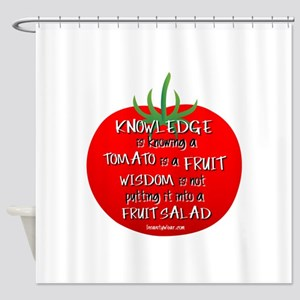 Tomato Smarts Shower Curtain