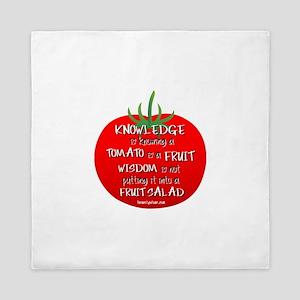 Tomato Smarts Queen Duvet