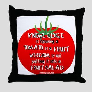 Tomato Smarts Throw Pillow