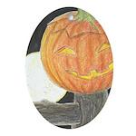 Jack-o-the-Moon Ornament (Oval)