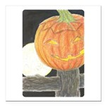 """Jack-o-the-Moon Square Car Magnet 3"""" x 3&quot"""