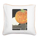 Jack-o-the-Moon Square Canvas Pillow