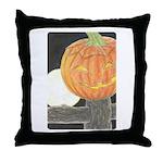 Jack-o-the-Moon Throw Pillow