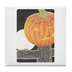 Jack-o-the-Moon Tile Coaster