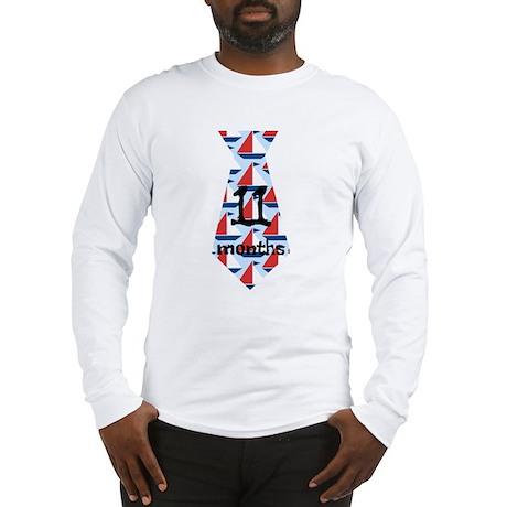 Sailboats 11 Months Tie Long Sleeve T-Shirt