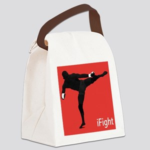 iFight (red) Canvas Lunch Bag