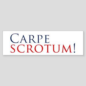 CarpeScrotumBumperSticker Sticker (Bumper)