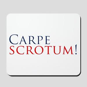 CarpeScrotumBumperSticker Mousepad