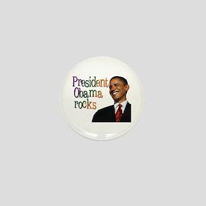 President Obama Rocks Mini Button