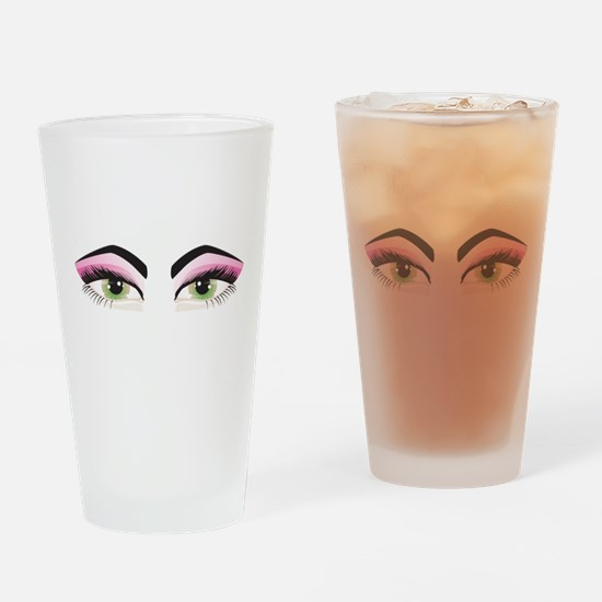 Hazel Eyes Drinking Glass