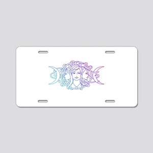 Triple Goddess Aluminum License Plate