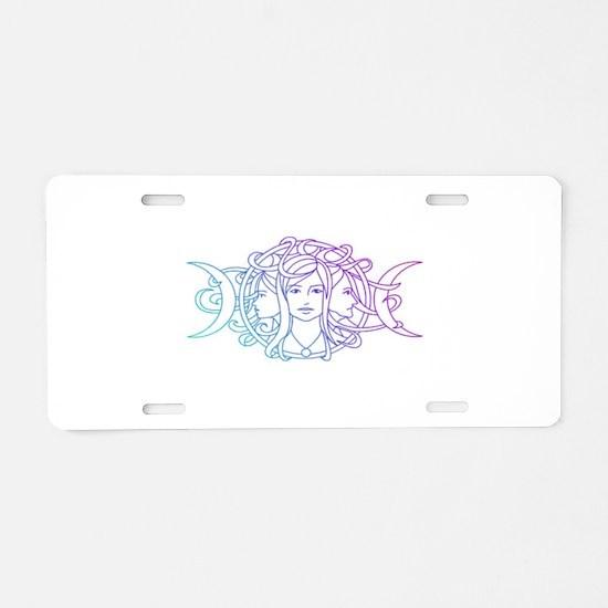 Triple Goddess Aluminum License Plate