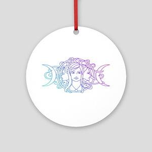 Triple Goddess Ornament (Round)