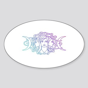 Triple Goddess Sticker (Oval)