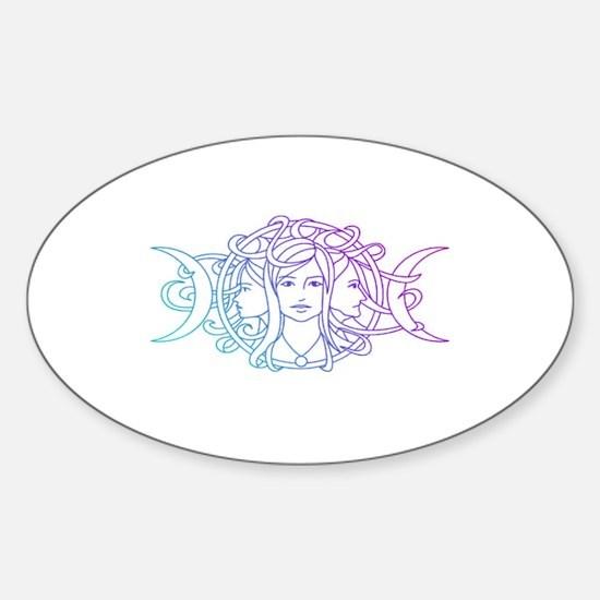 Triple Goddess Sticker (Oval)