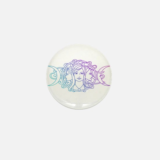 Triple Goddess Mini Button