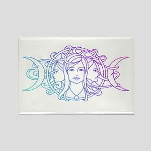 Triple Goddess Rectangle Magnet
