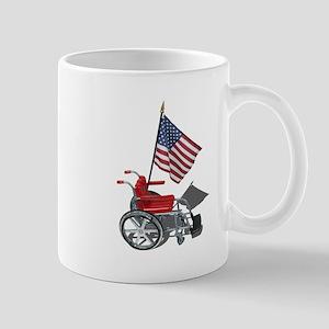 American Flag and Wheelchair Mug