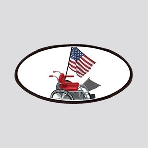 American Flag and Wheelchair Patches