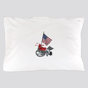 American Flag and Wheelchair Pillow Case