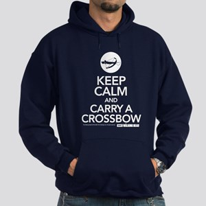 Keep Calm Carry a Crossbow Hoodie (dark)