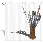 Swords in Stand Shower Curtain