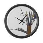 Swords in Stand Large Wall Clock