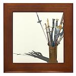 Swords in Stand Framed Tile