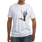 Swords in Stand Fitted T-Shirt