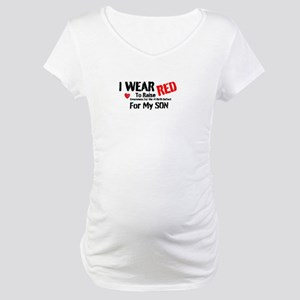 Son: I Wear Red Maternity T-Shirt