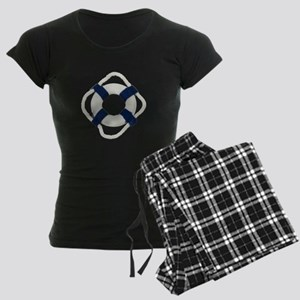Blank Life Preserver Women's Dark Pajamas