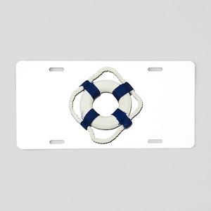 Blank Life Preserver Aluminum License Plate