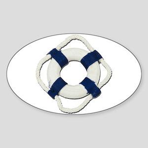 Blank Life Preserver Sticker (Oval)